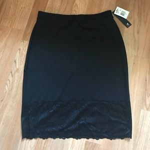 Black pencil skirt with lace